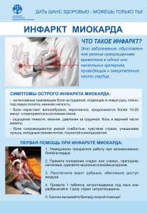 8 Плакат Инфаркт миакарда