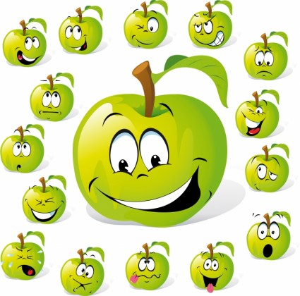 cartoon-fruit-expression-vector-242848