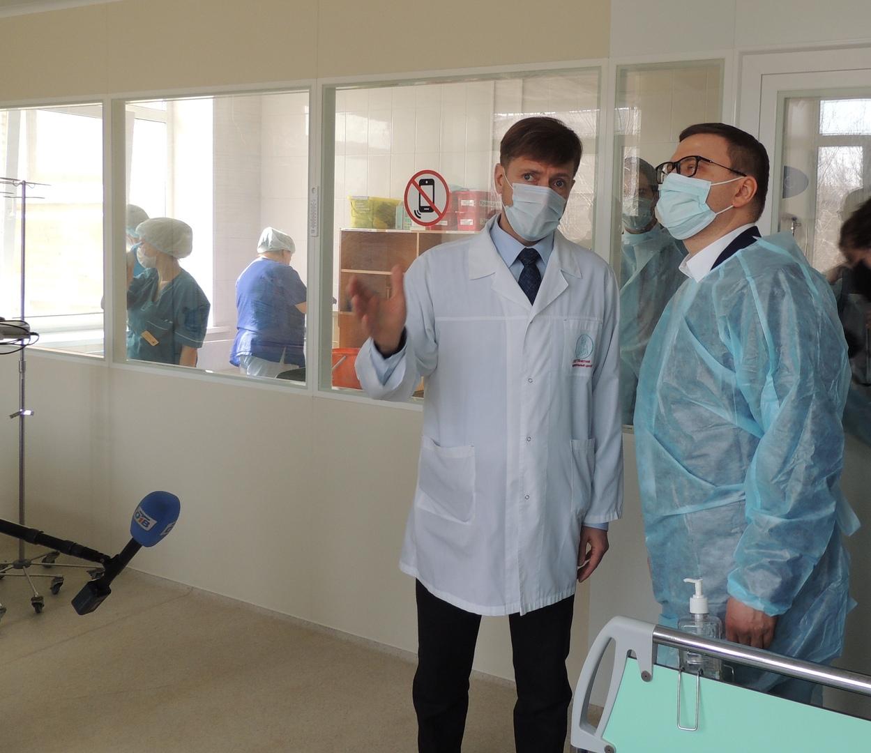 Губернатор Челябинской области Алексей Текслер и министр регинального Минздрава Юрий Семенов